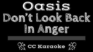Oasis • Don't Look Back In Anger (CC) [Karaoke Instrumental Lyrics]