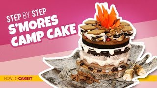 How To Make a S'moreo Campfire CAKE! | Step By Step | How To Cake It