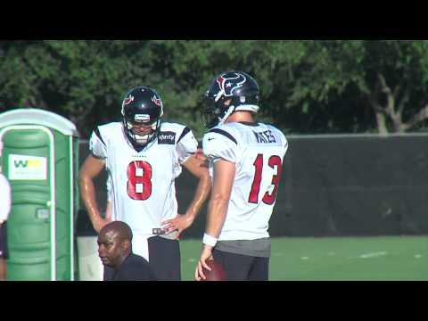 Texans 2012 Training Camp - QBs Matt Schaub and T.J. Yates
