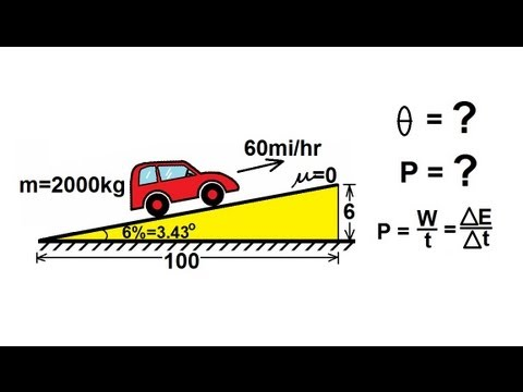 Physics - Mechanics: Work, Energy, and Power (14 of 20) Power Required to Drive Up A Hill