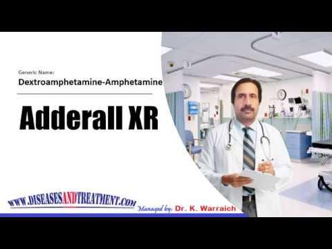 Adderall XR (Dextroamphetamine-Amphetamine) : Uses, Dose, Side Effects, Precautions, Indications