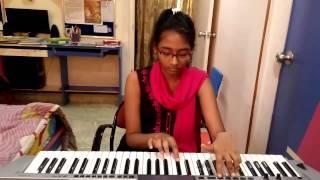 pk songs on keyboard ,nanga punga dost from pk on keyboard by t.sahithi