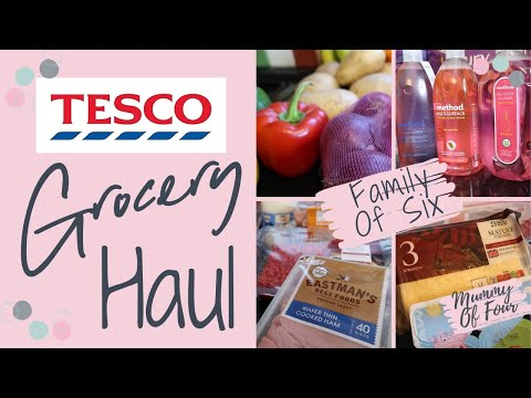 TESCO GROCERY HAUL & MEAL PLAN UK | WEEKLY FOOD SHOP FEBRUARY 2020 | FAMILY OF 6 | MUMMY OF FOUR