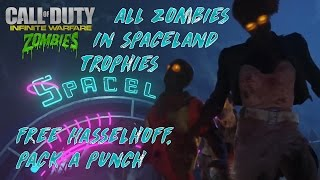 All Zombies In Space Land Trophies! Free Hasselhoff, Pack A Punch & More
