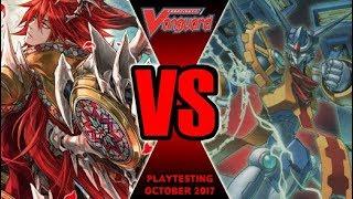 Scharhrot Vs Zodiac Time Beast - Cardfight Vanguard Playtesting October 2017