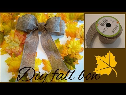 DIY BOW - PERFECT FOR FALL WREATH!
