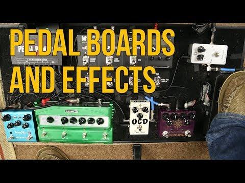 Marty Schwartz's Pedal Board of Guitar Effects