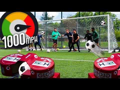 1000MPH DODGE FOOTBALL CHALLENGE *PAINFUL*