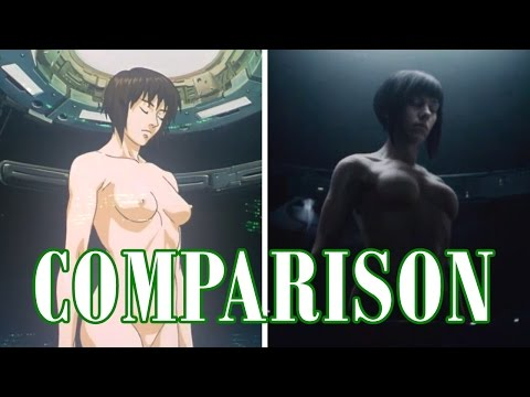 """GHOST IN THE SHELL """"Making of a Cyborg/Shelling"""" - Shot Comparison"""
