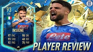 93 TEAM OF THE SEASON SO FAR INSIGNE PLAYER REVIEW! TOTSSF INSIGNE - FIFA 20 ULTIMATE TEAM