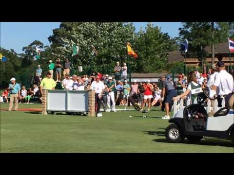 John Daly vs Houston Texan Owen Daniels Driving Contest Insperity Golf Championship 2017