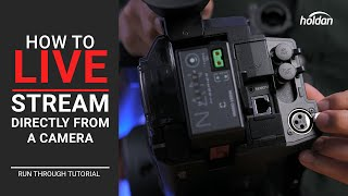 How to Live Stream From Any Camera with a Built-In Streaming Encoder | Walkthrough Tutorial | CX350