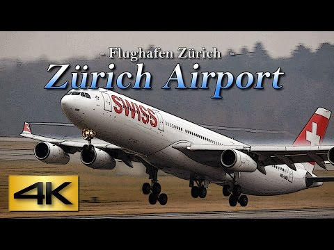 【4K】Special 1Hour Zürich Airport @SWISS 2017 the Amazing Airport Spotting