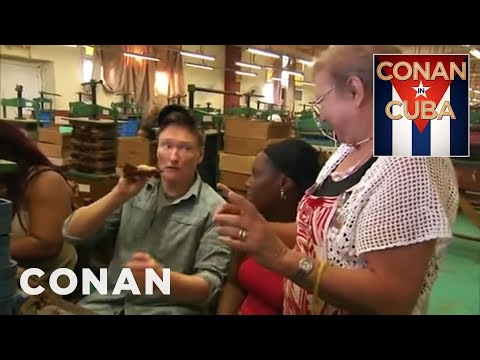 Conan Visits A Cuban Cigar Factory - CONAN on TBS