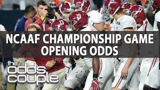 College Football Picks | Odds Couple |  Championship Game Opening Lines