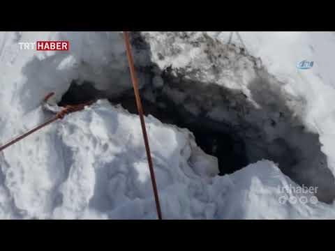 Türk dağcılar, 4400 metrede buzul çukuruna düşen ve donmak üzere olan köpeği kurtardı.