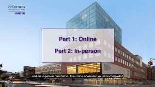 Silberman School of Social Work: New Student Orientation
