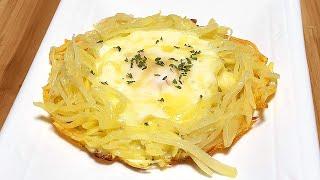 감자 요리 !! 치즈 감자 둥지전 !! 겉은바삭 속은 …