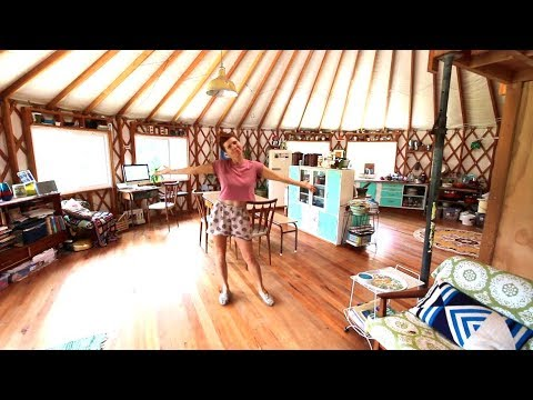 BIG YURT TOUR  OFF GRID YURT LIVING FOR TWO YEARS  YouTube