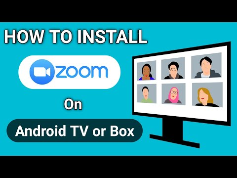 How to Install Zoom on Android TV or MI Box 4K | How to Use Zoom on Smart TV