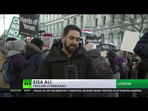Hundreds protest visit of Saudi crown prince to Britain