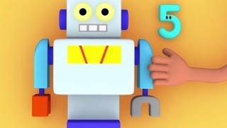 """Развивающий мультик """"Считаем с Полой"""". Учимся считать до 5. Давайте сделаем робота."""