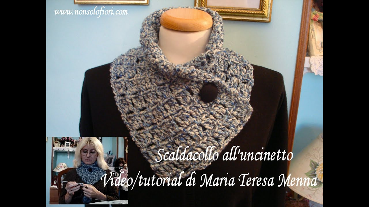 Scaldacollo Alluncinetto Video Tutorial Scarf Crochet Youtube