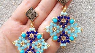 DIY Earrings/TUTORIAL ITALIANO/Orecchini Imperial tessitura di perline