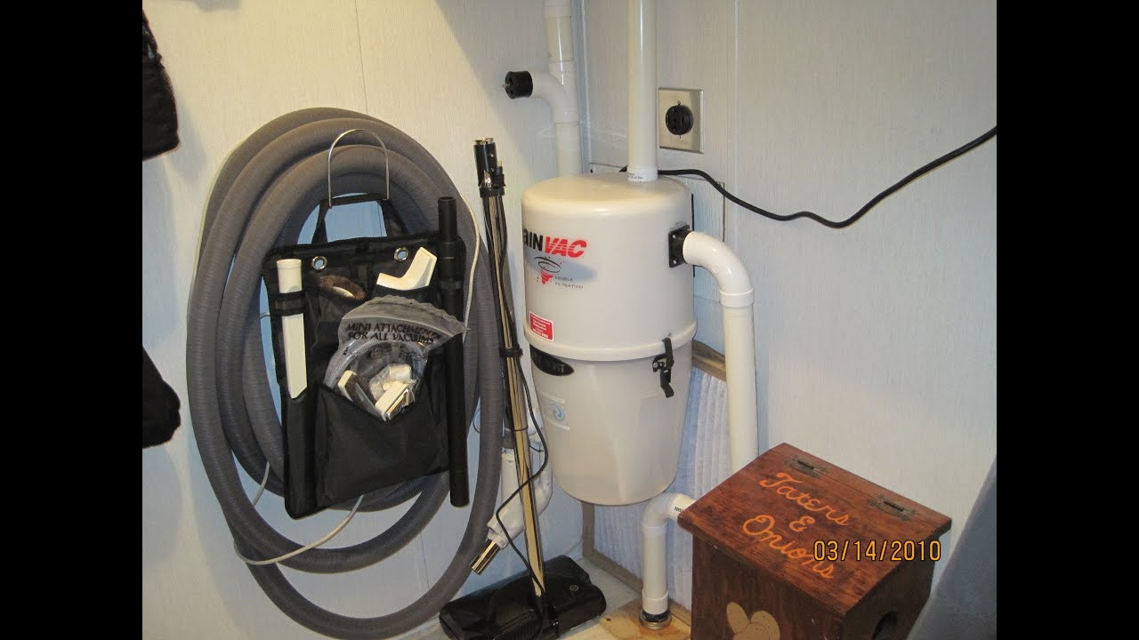 Mobile Home Central Vacuum Install - YouTube