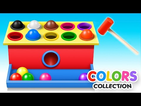 Thumbnail: Learn Colors with Wooden Ball Hammer Educational Toys - Colors Video Collection for Children
