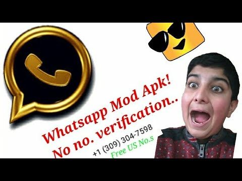 Use whatsapp without a simcard (mod apk)No number verification (Free US  phone numbers) voice reveal!