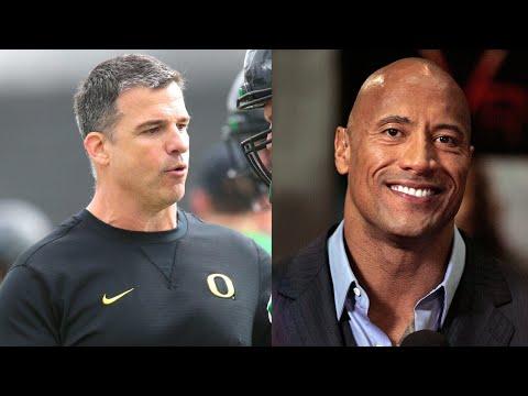Dwayne 'The Rock' Johnson congratulates Oregon's new football head coach Mario Cristobal
