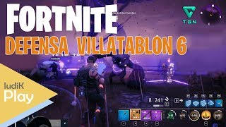 VILLATABLON SHIELD DEFENSE 6 FORTNITE: SAVING THE WORLD ? Spanish Gameplay