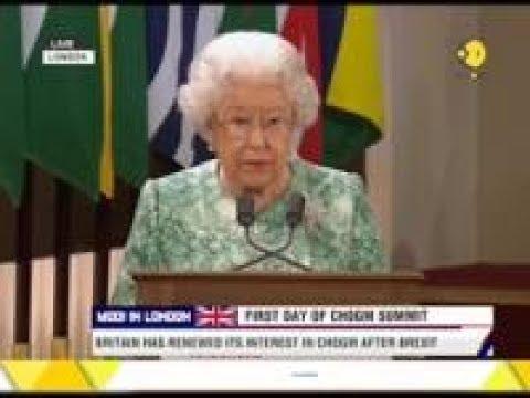 Queen Elizabeth II inaugurates the CHOGM summit 2018