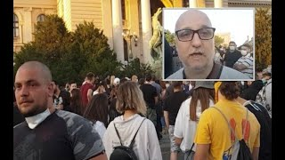 UŽIVO: Narod ispred Skupštine, Dejan Petar Zlatanović prenosi ono što drugi ne smeju