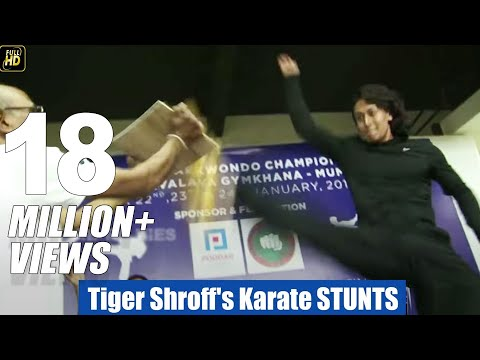 Tiger Shroff's Karate STUNTS Training In Public