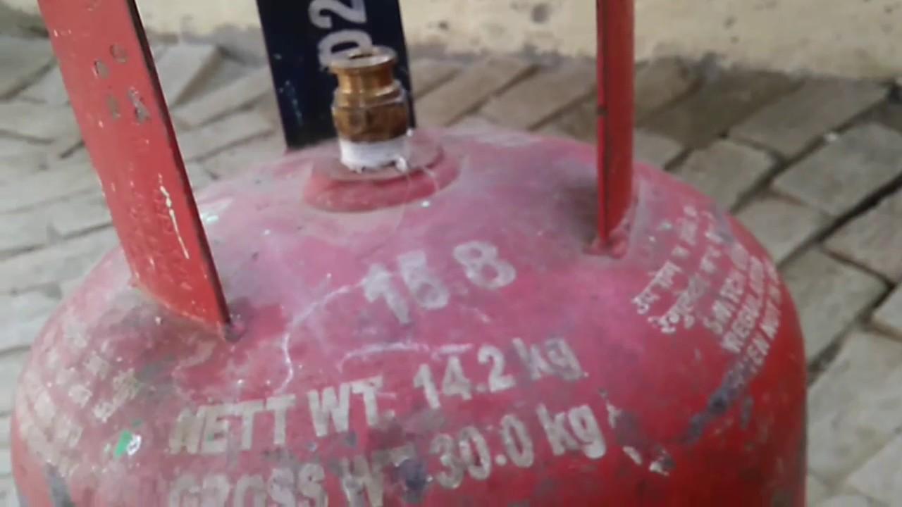 Checking Lpg Gas Cylinder Net Weight