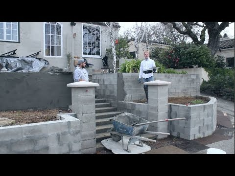 Cinder Or Cement Blocks Match Your Home Finish, Cinder Block Plastering, Cement Block Plastering