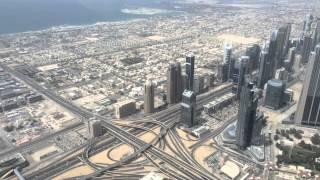 Dubai Verkehr Traffic aus einer Höhe von 452m gefilmt - Zeitraffer