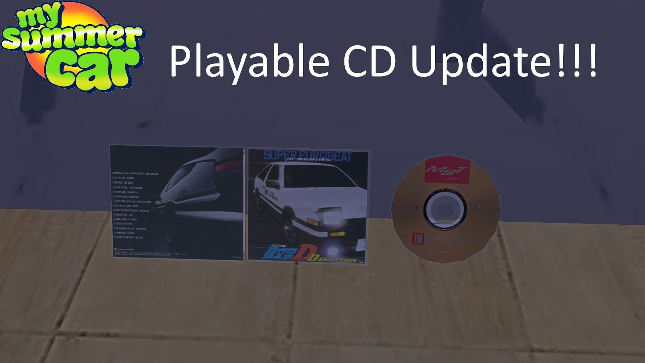 My Summer Car Cd Player Update Playable Cds Youtube