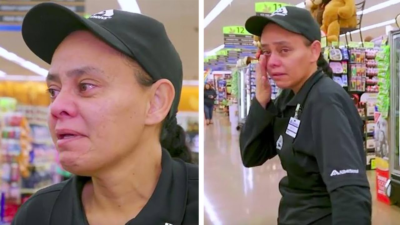 After Her Shoppers Got A Surprise Helping Hand, This Cashier Received A Gift That Made Her Weep