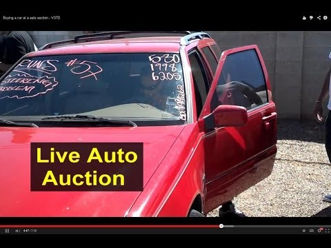 Buying a car at a public auto auction - Auto Information Series
