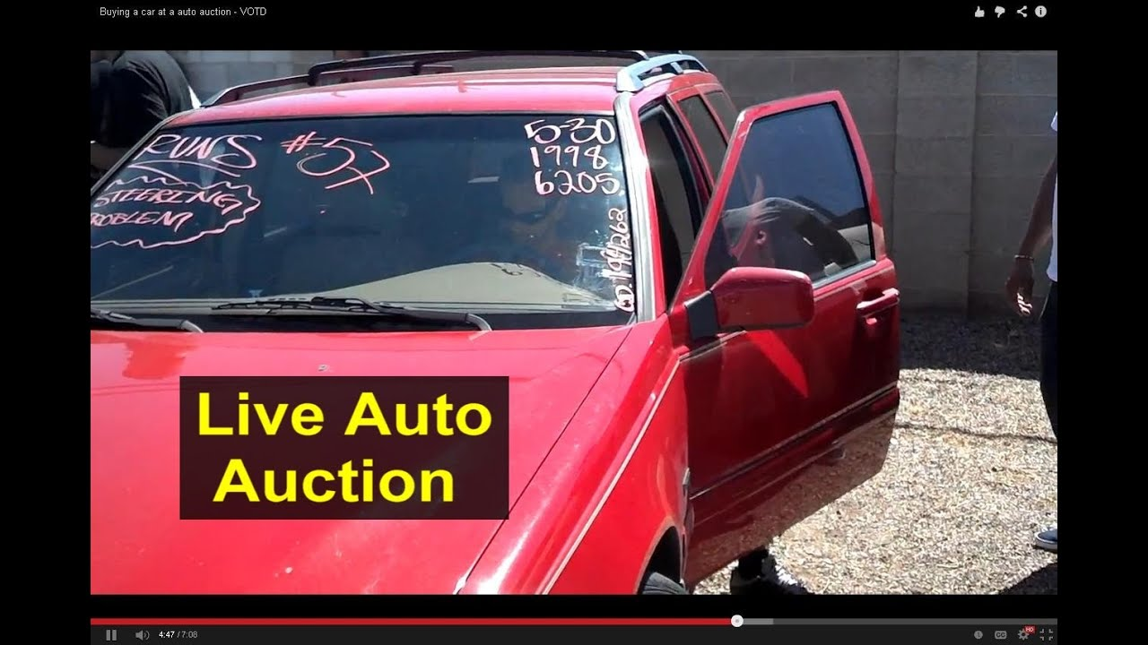 Buying a car at a public auto auction auto information series youtube