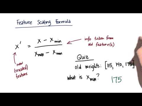 Feature Scale Formula Solution 2 - Intro to Machine Learning