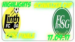 Fc Linth 04 vs Fc St Gallen (17.09.17)
