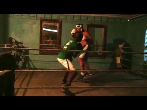 Daniel Shaw sparring Dexter Gonzalves 2015 Guyana