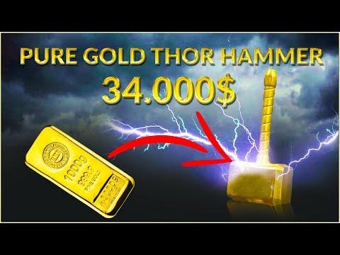 Casting $34,000 MINI Thors Hammer from SOLID GOLD