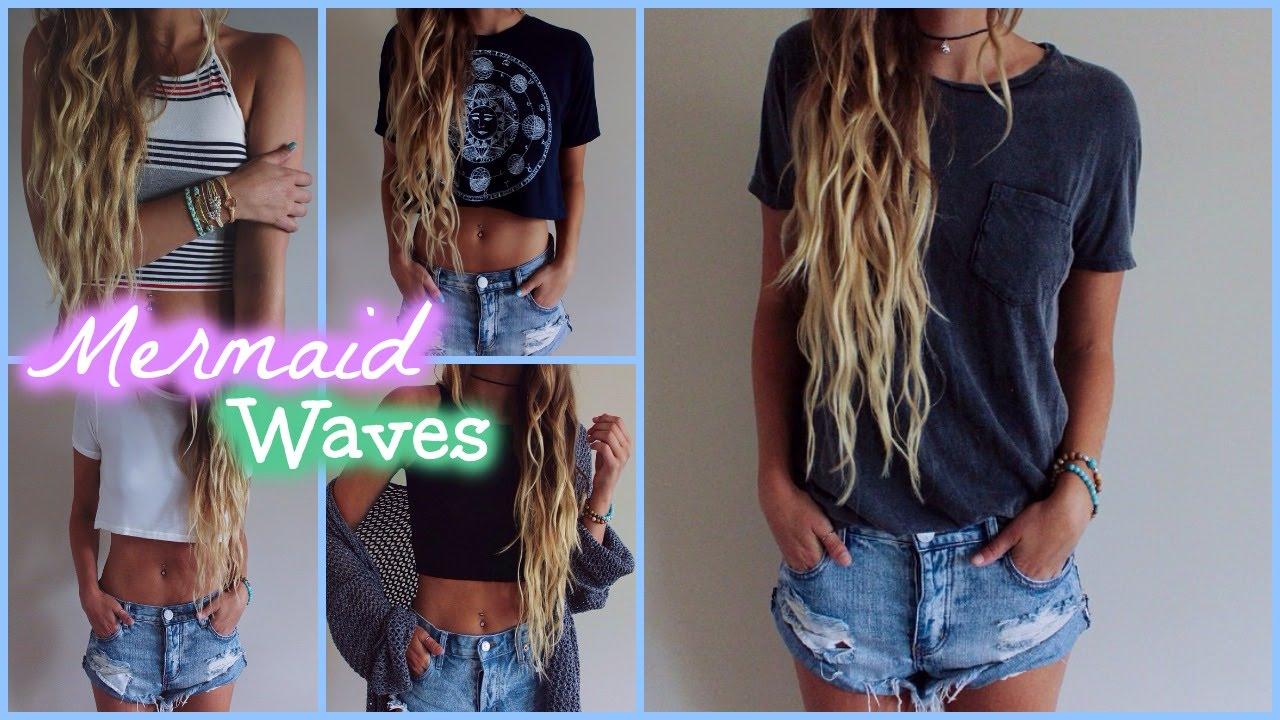 Mermaid Waves Hair Tutorial Youtube