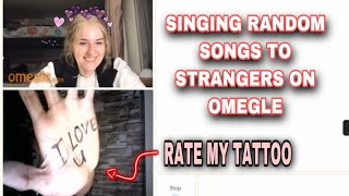 SINGING TO STRANGERS ON OMEGLE part 11 | Can u rate my tatto? When the party's over Billie eilish