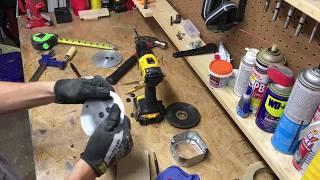 DIY Industrial Ceiling Medallion
